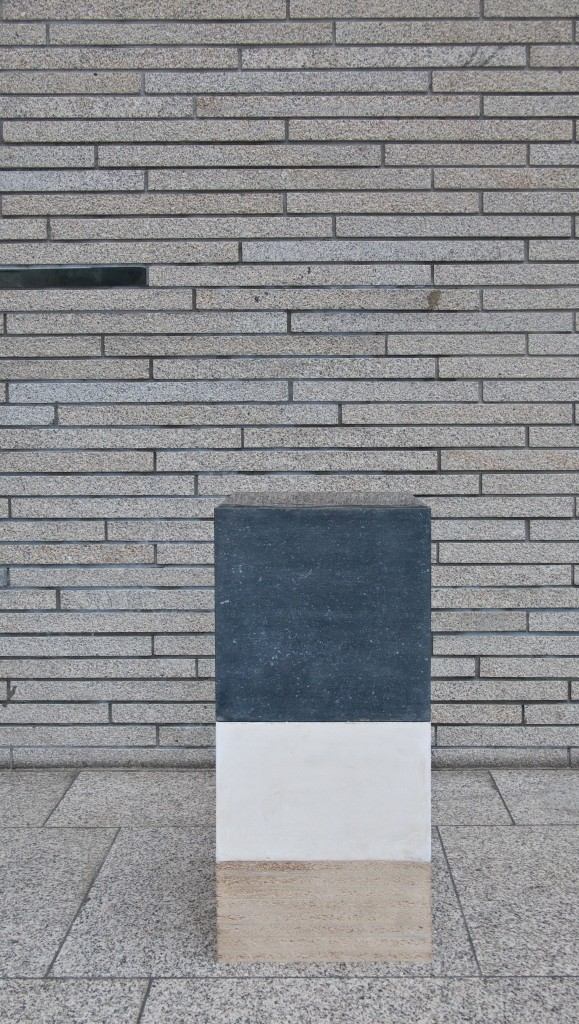 Schälling/Enderle, Daniel ou les couches du temps, 2016, Petit Granit, Blasenfolie, Gips, Spanplatte, Foto: Jörg Schälling