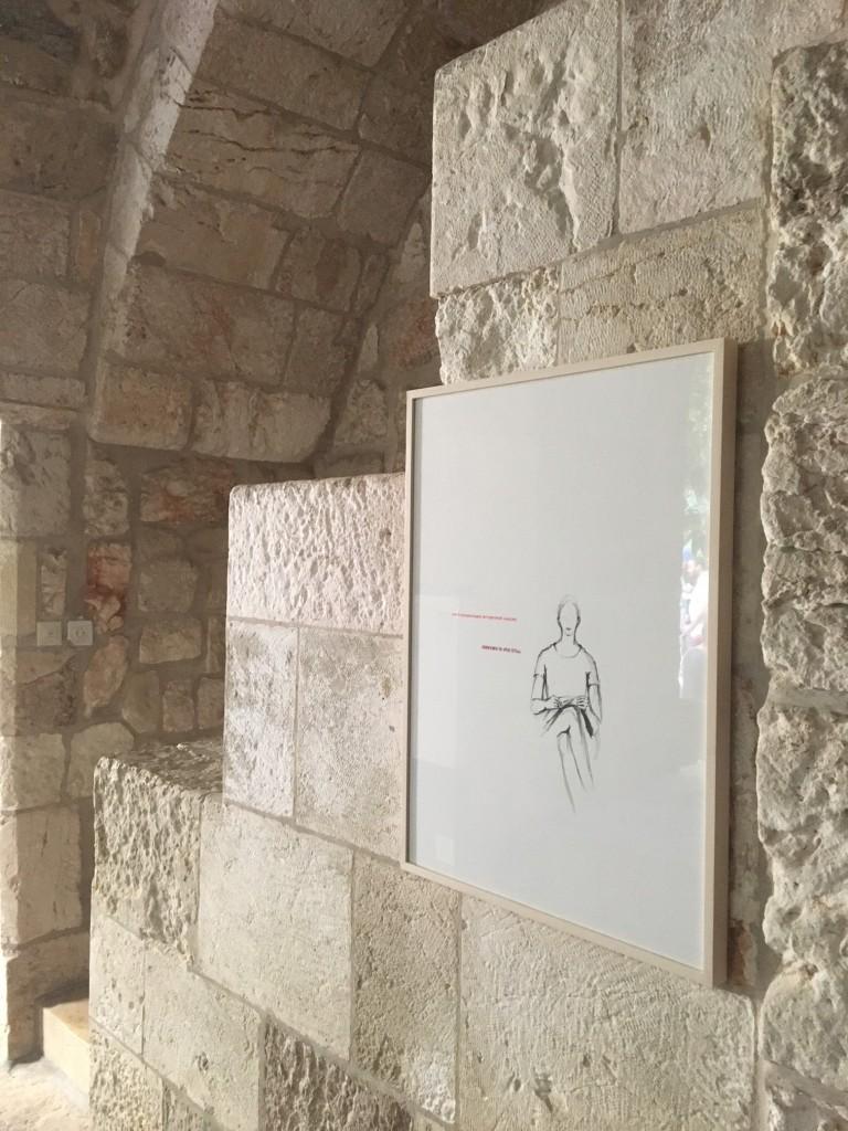 Ausstellungsansicht Erlöserkirche Jerusalem, Brigitte Waldach, 10 Comandments, 2014 Courtesy Artist, Foto Alexander Ochs 1